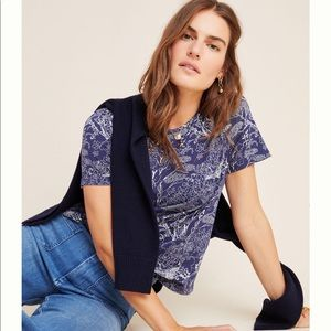 Anthropologie Tee Blue Size XS New